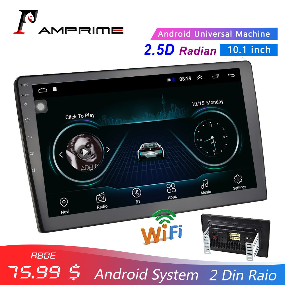 AMPrime 10 1 Car Multimedia Player 2 din Android Car Stereo Radio Bluetooth WIFI Audio Mirrorlink