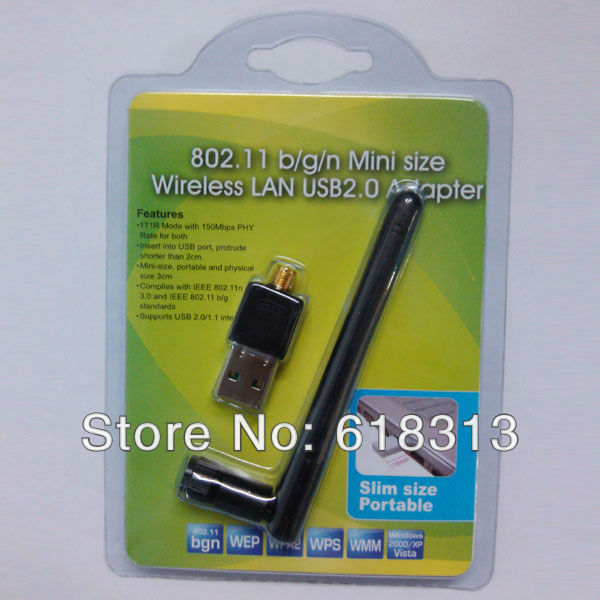 Mini USB WiFi 150Mbps Wireless Adapter 150M LAN Card 802.11n/g/b with Antenna for Skybox F3 F4 F5 M3 OpenBox  X3 X4 X5 Q3