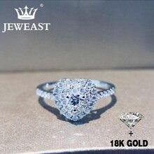 天然ダイヤモンド 18 18k ゴールド純金リング美しい宝石リング良い高級流行の古典的なパーティーファインジュエリーホット販売新 2020