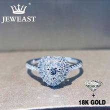 Natürliche Diamant 18K Gold Reinem Gold Ring Schöne Edelstein Ring Gute Gehobenen Trendy Klassische Partei Edlen Schmuck Heißer Verkauf neue 2020