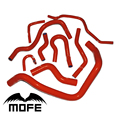 MOFE Racing 9PCS  Red Silicone Hose Kit For Honda Civic K6 D15 / D16 EG6 1992~1997
