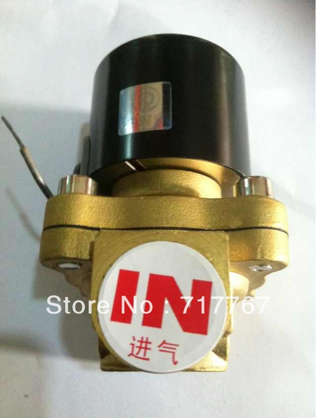 Water Air Pipeline Gas Brass NC 2Way 2 Position Electric Solenoid Valve Air Vavle 1''1/4'' BSP 12VDC 24VDC 110V 2W350-35 time electric valve ac110v 230 3 4 bsp npt for garden irrigation drain water air pump water automatic control systems
