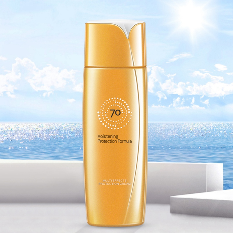 Sunscreen Cream Waterproof Sunblock Foundation Whitening Isolation Moisturizing Oil Control Face Skin Care Cream 70g