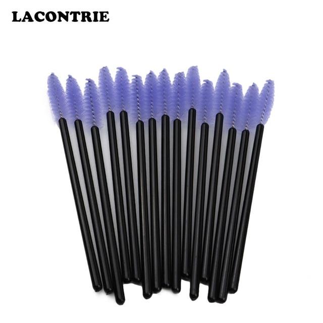 Makeup Brush Wands 50 PCS Disposable Eyelash Mascara Makeup Brush Tools Lash Extension Supplies Eyebrow Applicator Brush 4