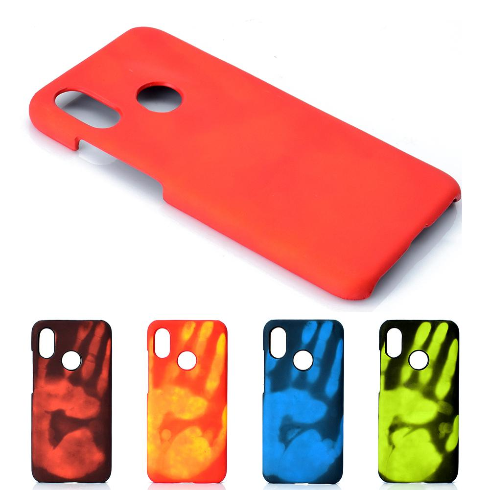 Thermal Induction Fluorescent Color Changing PC Back Shell cover for Xiaomi8 case  for mi8