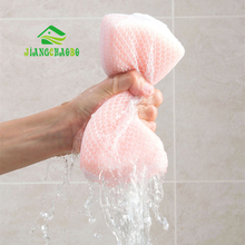 Sponge Cleaning With Mesh Bag Cleaning Kitchen Both Sides Cleaning Scrubbing Bowl Cleaning Pan Magic Cleaning Brush