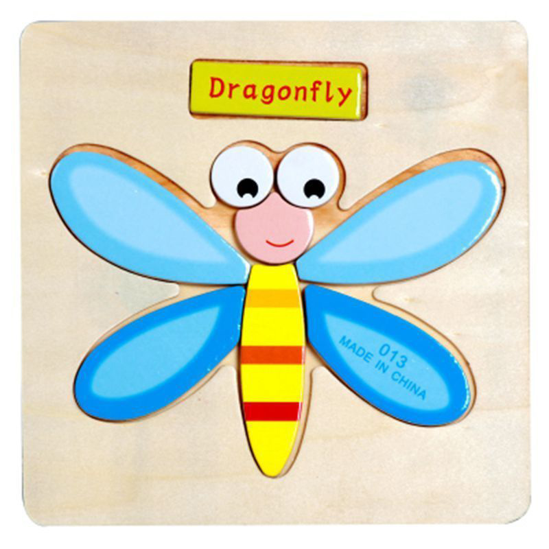 HOT Wooden Puzzle Educational Developmental Baby Kids Training Toy Cartoon Gifts