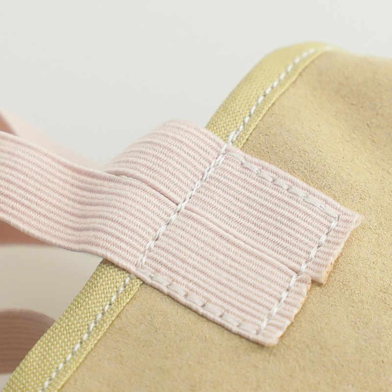 Sapatos de ginástica rítmica macio meia meias crianças adulto elástico ballet dança metade sapatos
