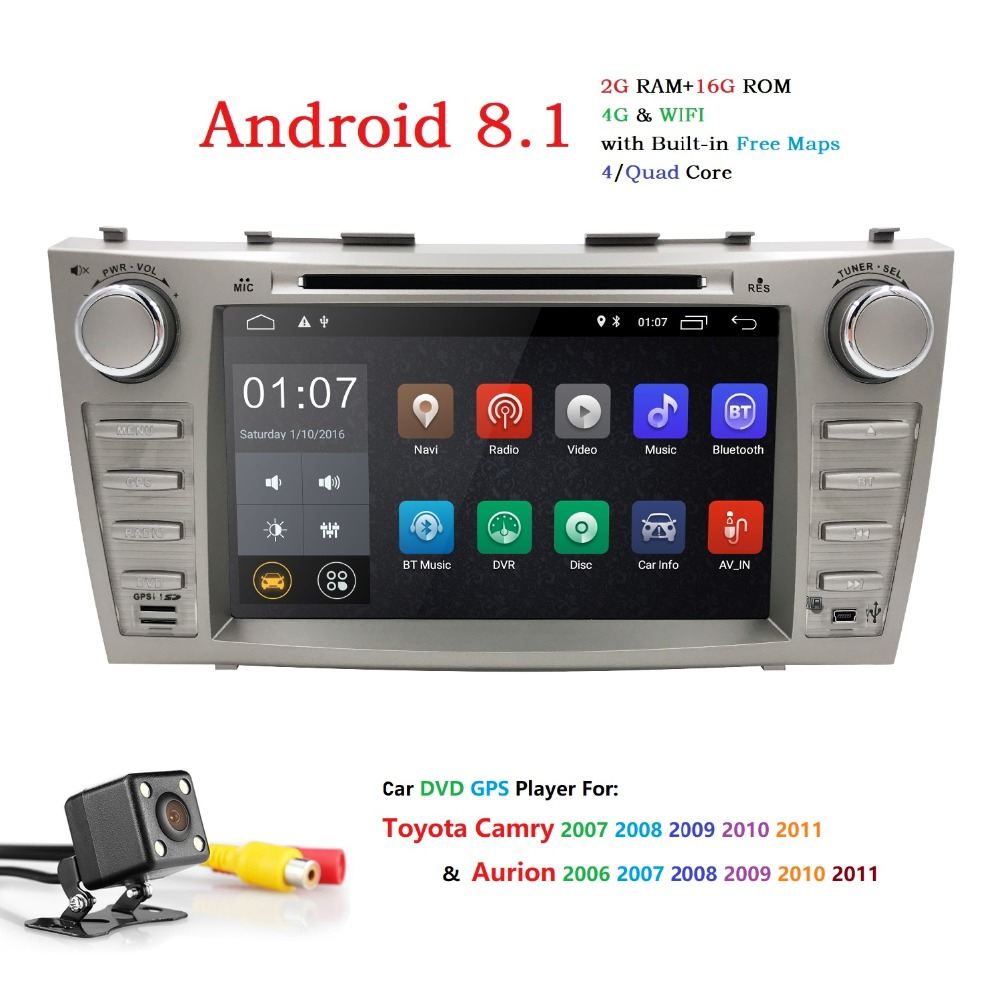 Autoradio 2 Din Android 8.1 Car DVD Player For Toyota Camry 2007 2008 2009 2010 2011Aurion 2006 Head unit Tape Recorder Wifi SWCAutoradio 2 Din Android 8.1 Car DVD Player For Toyota Camry 2007 2008 2009 2010 2011Aurion 2006 Head unit Tape Recorder Wifi SWC