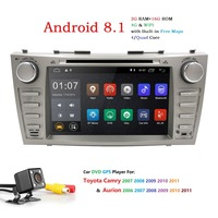 Autoradio 2 Din Android 8.1 Car DVD Player For Toyota Camry 2007 2008 2009 2010 2011Aurion 2006 Head unit Tape Recorder Wifi SWC