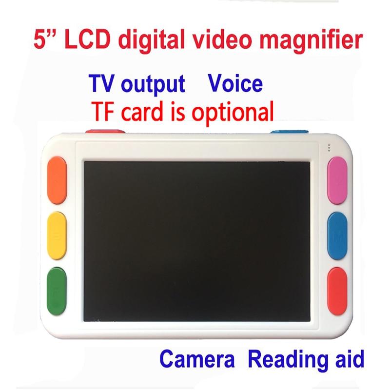 5 pouces LCD portable loupe Basse Vision Vidéo Loupe aide à la lecture électronique, Numérique De Poche portable Vidéo Loupe