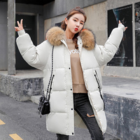 100% Large Natural Raccoon Fur Hooded Winter Jacket Women 2018 Female Parkas For Winter Coat Women Warm Thicken Parka Plus Size