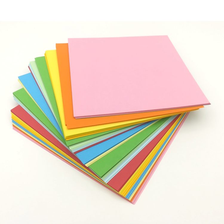 DIY Creative Hand Origami Color Paper Uesd For Children In Color Art Class 15x15cm Handmade Paper