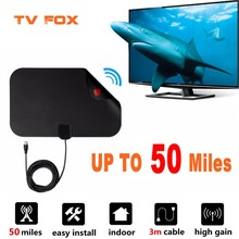 Get more info on the 50 Miles 1080P Digital TV Antenna TV Radius TV Surf TV Fox Antena HDTV Antennas Receiver Amplifier Mini DVB-T/T2 Aerial UHF VHF