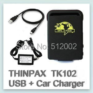 Free Shipping 2014 GPS Trackers TK-102 Mini Global Real Time GSM/GPRS/GPS Tracking Device+Car wired Charger with CE certificate