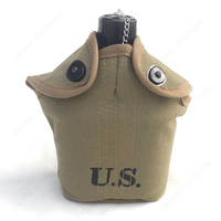 US WWII WW2 America Military Type 1945 Kettle and Canteen Replicas Aluminium With Army Green Coat 1 L US/10104