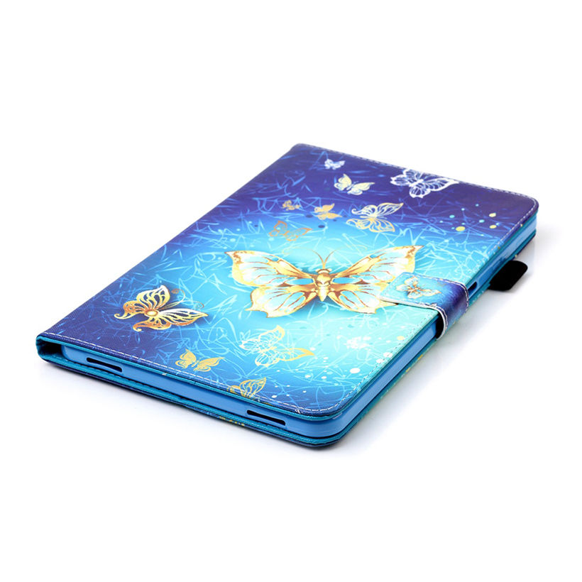 Butterfly Leather Case For Samsung Galaxy Tab A A6 10.1 2016 T580 T585 SM-T580 T580N Case Cover Tablet Book Fashion Fundas Capa