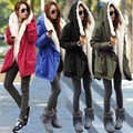 2016 New Women Winter Army Green Jacket Coats Overcoat Thick Parkas Plus Size Real Raccoon Fur Collar Hooded Outwear