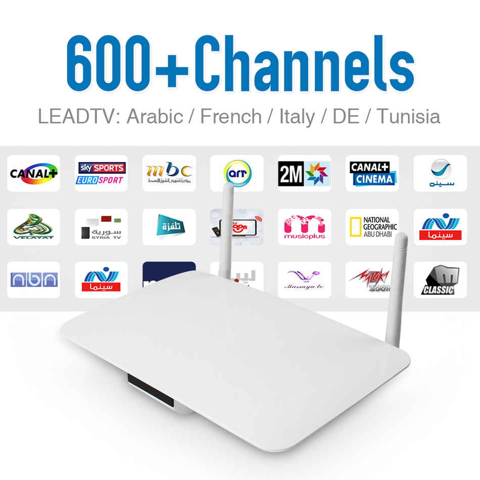 Android Smart Tv Set Top Box IPTV Box With 626 Free Iptv Subscription Europe Arabic French Sport IPTV Channels HD Media Player цена 2016