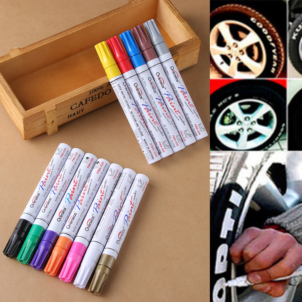 Multi Color Waterproof Permanent Paint Pen Oil Marker for Car Boxed Metal
