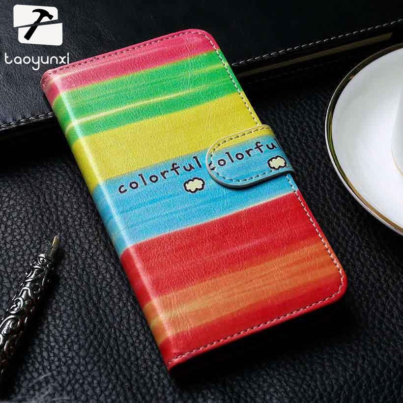TAOYUNXI Flip Wallet Case Cover For Meizu MX6 Pro Holster Meizu Pro 6 Meizu Pro 6s Pro6s 5.2 inch Painted PU Leather Card Holder