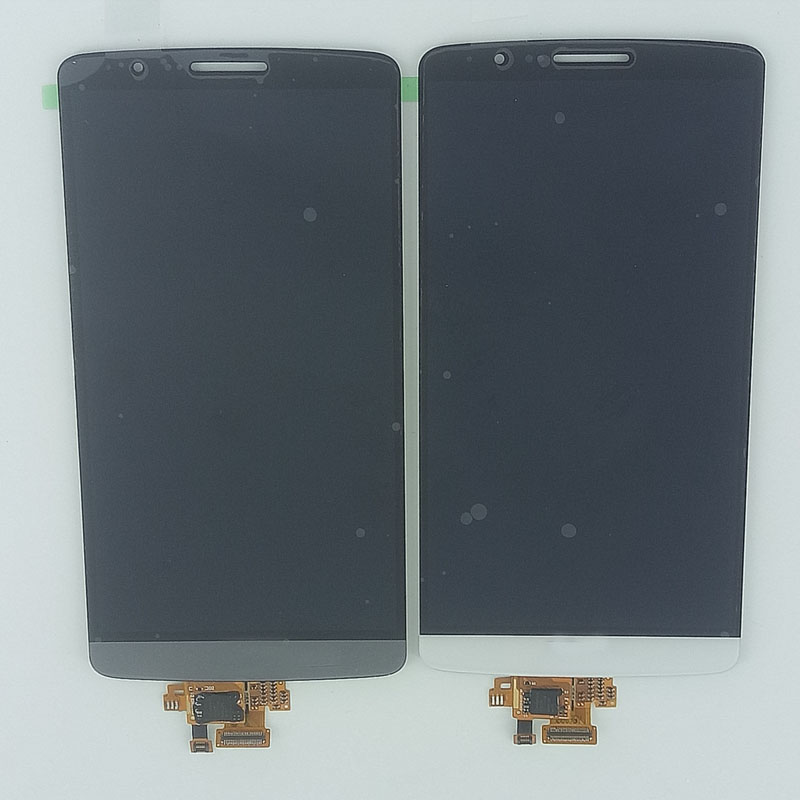 5.5 LCD Display Monitor Touch Panel Screen Digitizer Glass Assembly For LG G3 D855 D850 original lcd for lg g3 d850 d855 lcd display screen digitizer touch glass pantalla with frame bezel assembly replacement
