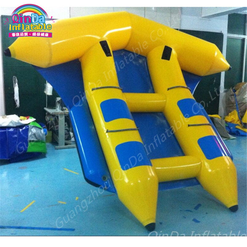 Inflatable flying fish tube towable,fish banana sport boat,play ground equipment,inflatable flying fish banana boat 5 seats water toys crazy giant inflatable water park flying banana boat fly fish towables
