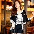 Original New Styles 2016 Brand Autumn Short Plus Size Casual Fashion High Waisted Black Shorts Women Wholesale