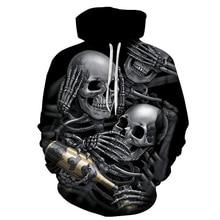2019 Motorcycle Art Skull Hoodies Men Women New Fashion Sportswear Tracksuit Brand  Hoody Tops Hooded Sweatshirt