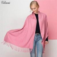 BOHOWAII Super Length Scarf Winter Warm Echarpe Femme Fashion Classic Tassel Pashmina Cashmere Shawl