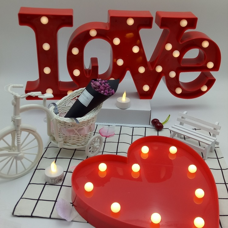 Love heart style Bedside Lamp Moon Star Cloud LED Night Light Room party Decoration For  ...