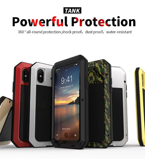 brand new d5990 ce353 US $14.85 |Shock Dust Proof Water Resistant Cell Phone Case For iPhone X  Skin Protection Metal Silicon Cover iPhonex Outdoor Sport Cases-in Fitted  ...