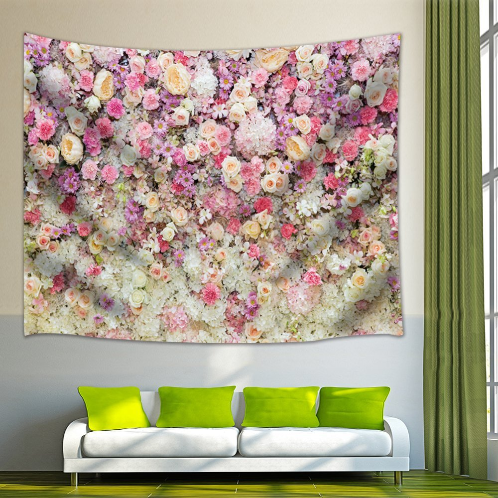 Colorful Dorm Room: Spring Flowers Decor Colorful Flowers Tapestry Wall
