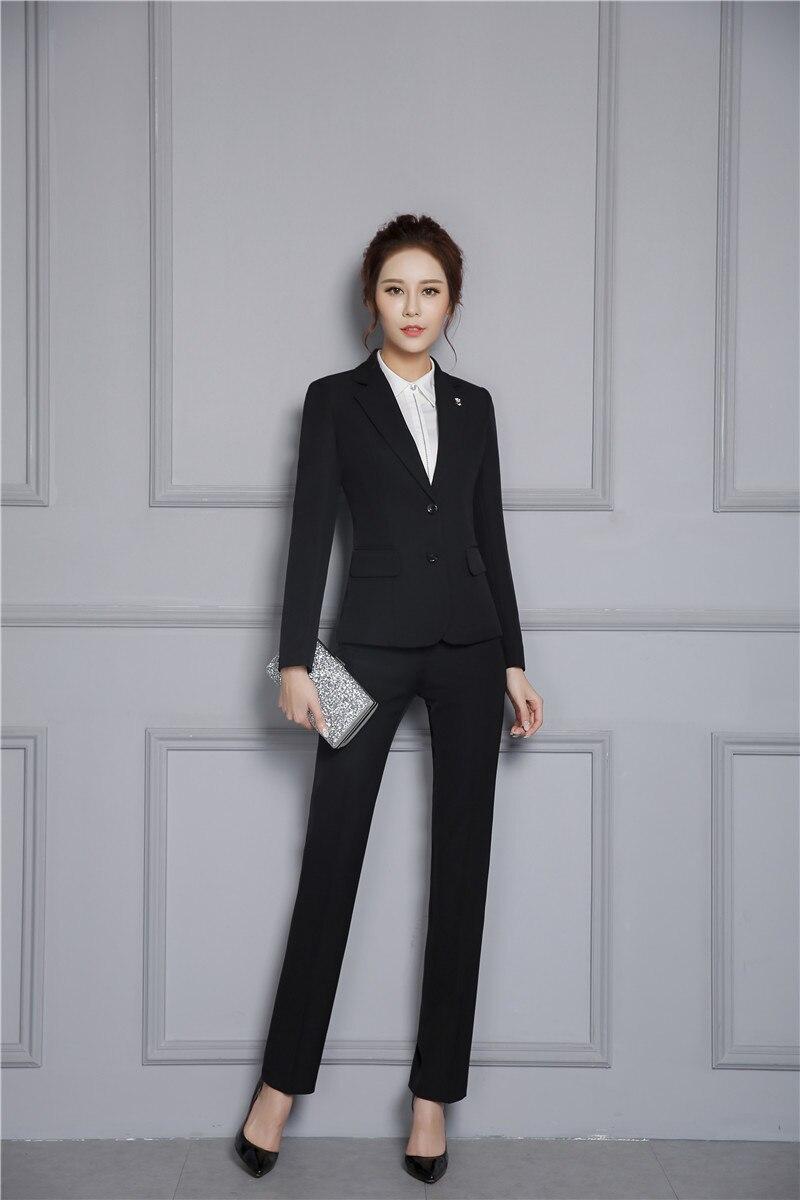 Di Autunno Tailleur Signore Delle Dei Nuovo Inverno Il E Pantalone Arrivo Più Black Set Pantaloni Con Formale Professionale Giubbotti Formato qx4zEyI