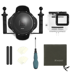 """Image 2 - Ateş 6 """"dalış sualtı kamera Lens Dome kapak w/balıkgözü geniş açı Lens Shell GoPro"""