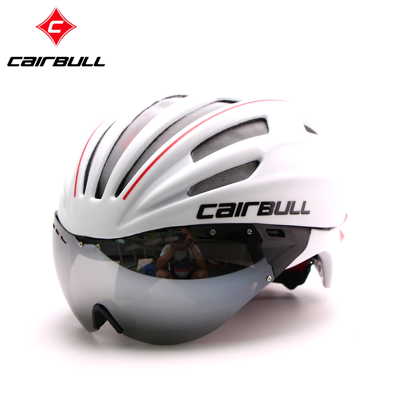 New Cycling Helmet MTB Road Bike Helmet Sun Visor Bicycle Helmet Aero Helmet With Goggles