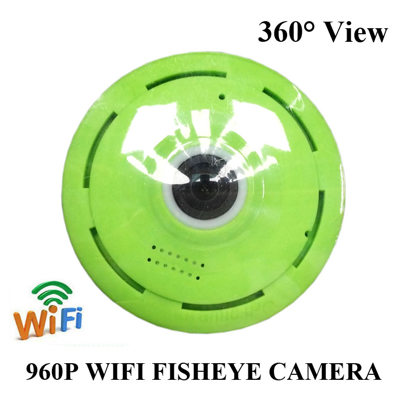 Wi-fi VR 360 Degree smart panorama IPC Wireless IP Fisheye Camera Support Two Way Audio P2P 960P HD Mini wifi camera Webcam купить