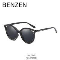 BENZEN Cat Eye Sunglasses Women Vintage Female Sun Glasses Polarized Ladies Glasses Shade Black With Case 6562