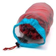 Ultralight Camping Sports Mesh Drawstring Storage Bag Hiking Climbing Stuff Sack Drawstring Laundry Bag bolsa S-XXL