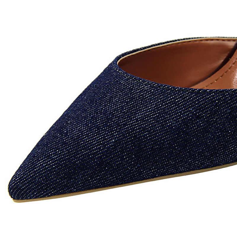 Bigtree ayakkabı kadın pompaları yeni kadın Stiletto moda yüksek topuk kadın ayakkabı bahar Kitten topuklu kadın Ssandals seksi parti ayakkabıları