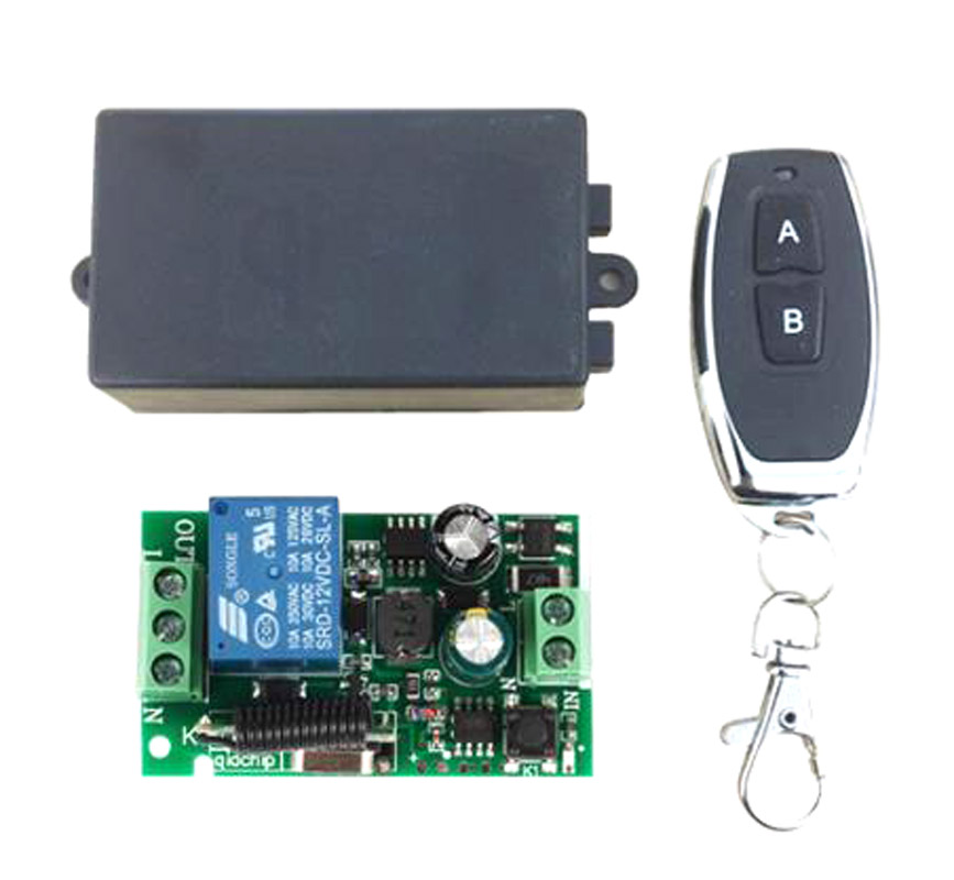 433Mhz  Wireless Remote Control Switch Universal AC 85V 110V 220V 1CH Relay Receiver Module & RF 433 Mhz Remote Controls-in Remote Controls from Consumer Electronics