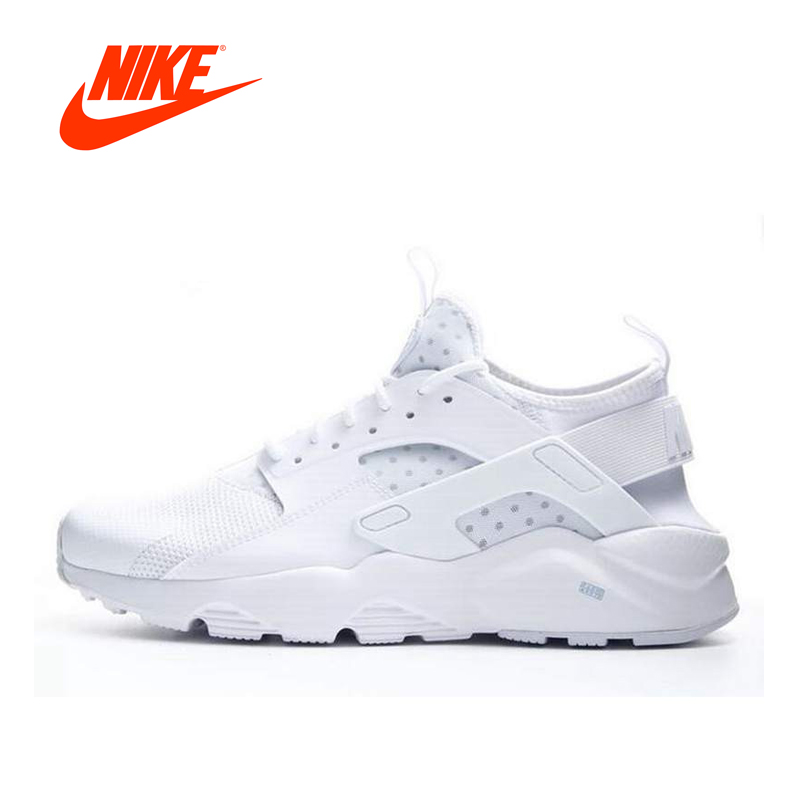 Original NIKE Summer AIR HUARACHE RUN ULTRA Men's Running Shoes Sneakers nike air huarache midnight navy white
