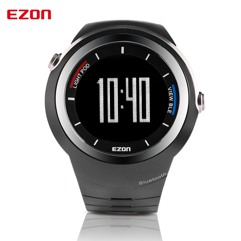 EZON S2 Bluetooth Watch Smart Sports Digital Watch Running Pedometer Waterproof Multifunctional Wrist Watch for Mobile Phone men s multi function waterproof smart sports running watch s2 with pedometer pair with android 4 3 ios6 0 or higher bluetooth