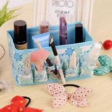 Caixa de armazenamento de maquiagem dobrável para batom titular organizador unha polonês expositor jóias pequenos itens de armazenamento caixa de luva