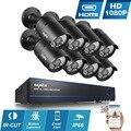 8CH HD 1080 P DVR Sistema de Câmera 8 pcs SANNCE p2p 2MP CCTV Câmeras de Segurança de visão noturna de Vigilância Ao Ar Livre à prova d' água kits
