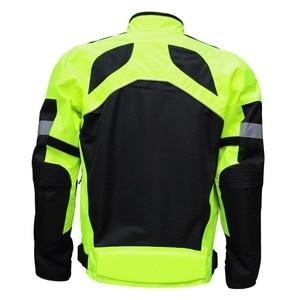 Image 2 - 乗馬部族夏/冬 moto rcycle 通気性メッシュ moto 保護ジャケット男性の反射レース moto ジャケットジャージパンツ