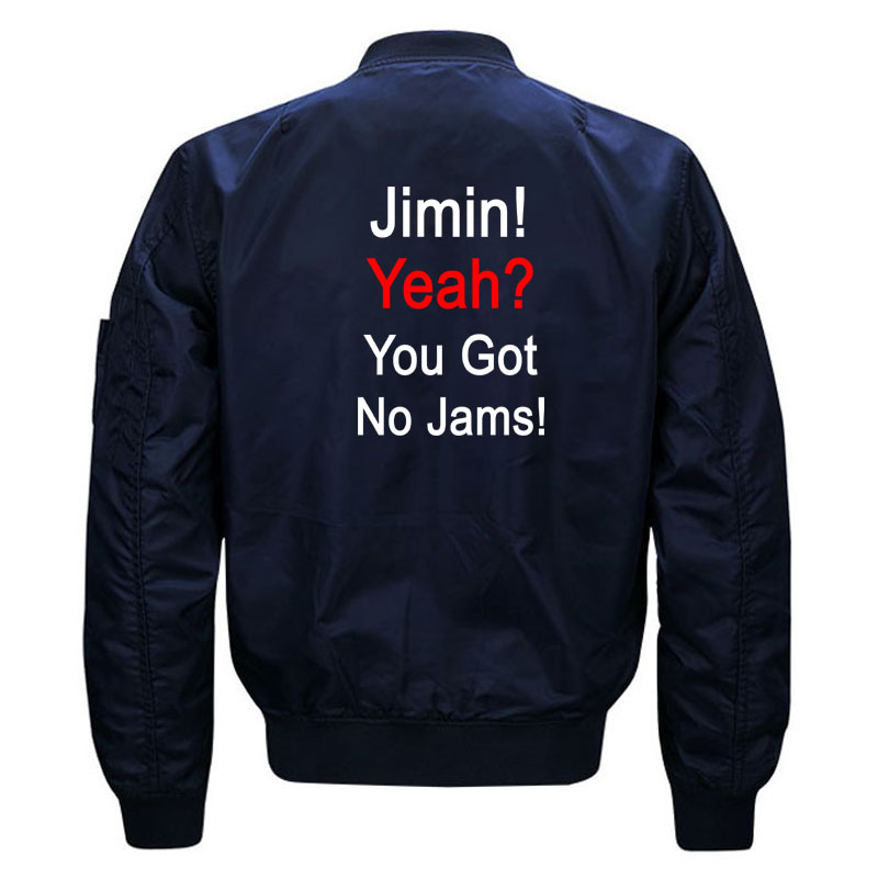 Funny Kpop BTS Jimin You Got No Jams Bomber Jacket for Women and Men Fans Kawaii Girls Bangtan Boys Quilted Jackets Plus Size 3