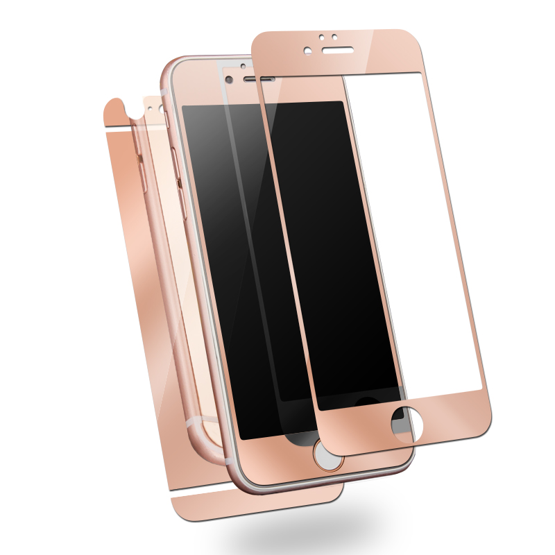 Hot ! Metal Bumper+Front & Back Mirror Effect Tempered Glass Film Phone Case Cover for iphone 5 5s
