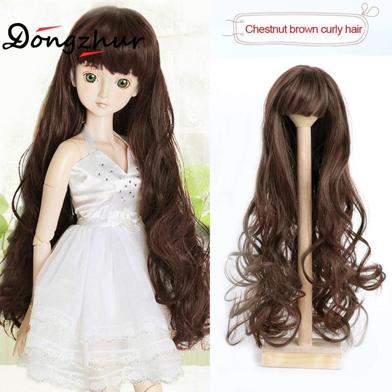60cm BJD-doll wig for 1/3 BJD doll Mohair Msd SD Yosd Fashion Wavy Hair Wig For 1/3 Bjd Dolls night Long hair wig sets lolita