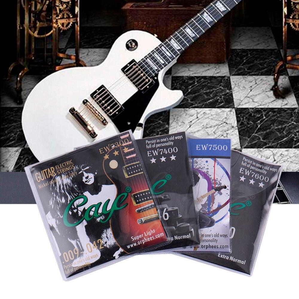Orphee Electric Guitar Strings Metal Rock Electric Guitarra Strings Use Hexagonal Carbon Steel With Phosphor Bronze